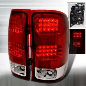 2007 2009 Gmc Sierra Led Tail Lights Red Automotive