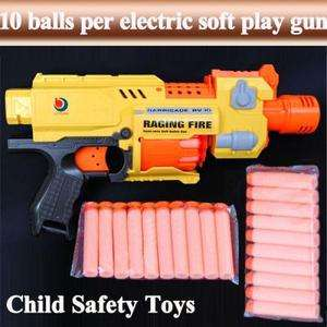 New RAGING FIRE Semi auto Soft Bullet Blaster Nerf Gun 20 Dart Toy AGE