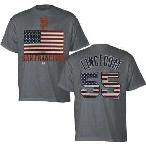San Francisco Giants Tim Lincecum Red White & Blue T Shirt