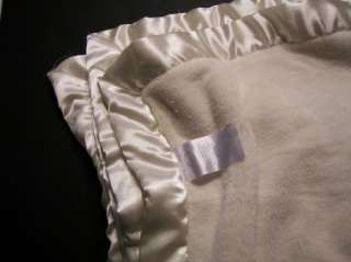 Koala Baby Ivory Cream thick Plush Satin Edge Blanket