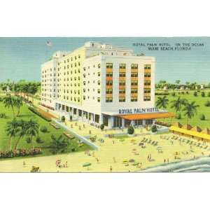 1950s Vintage Postcard   Royal Palm Hotel   Miami Beach