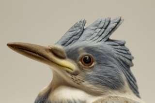 Boehm Hand Painted Bird Figurines #436 & 449S Kingfisher Baby Blue Jay