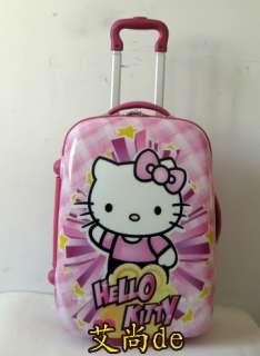 HelloKitty 18 Luggage Bag Baggage Trolley Roller Pink