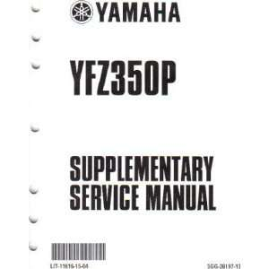 Yamaha YZF350 Banshee Factory Service Manual Supplement Yamaha Motors