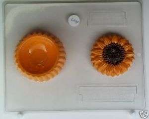 SUNFLOWER LID AND POUR BOX CHOCOLATE CANDY MOLD