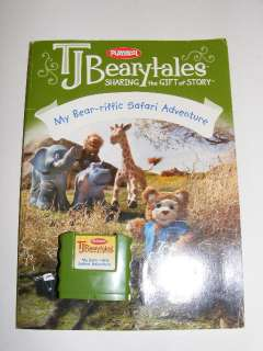 TJ Bearytales Talking Bear Playskool Hasbro Story Animated Plush
