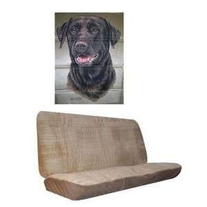 Car Truck SUV Chocolate Lab Dog Print Rear Bench or Small