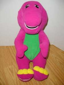 16 in~PLAYSKOOL TALKING BARNEY~INTERACTIVE STUFFED PLUSH DINOSAUR~100