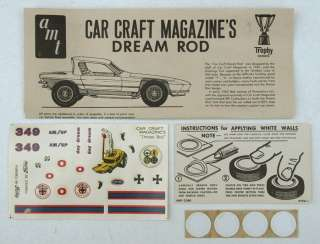 AMT Car Craft Dream Rod, 1/25th Scale, Kit # 2165, w/Revolving Display