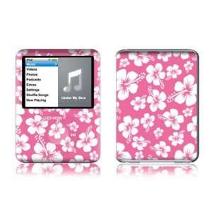 Aloha Pink Design Protective Decal Skin Sticker for Apple iPod nano 3G