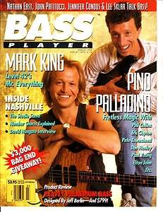 Bass Player Magazine Mark King/Pino Palladino March 1992 Vol. 3 No. 2