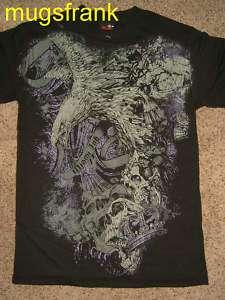 Miami Ink Tv Show Liberty Thieves Eagle Skull T Shirt