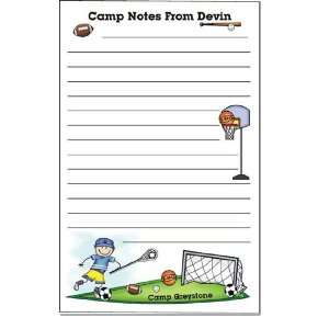 Pen At Hand Stick Figures   Camp Note Pads (Sport   Boy