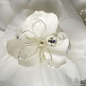 White Or Ivory Silk Begonia Flower Bridal Hair Comb