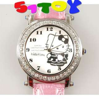 Hello Kitty Wrist rhinestone Quartz leatherette Watch