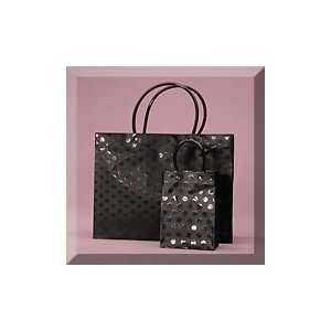 13 X 5 X 10 Black Dots Plastic Handle Bag