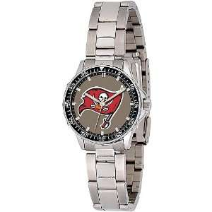 Time Womens Tampa Bay Buccaneers Bucs Ladies Watch with Metal band