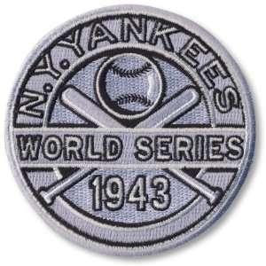 1943 New York Yankees World Series Championship Patch