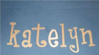 10 WOOD PERSONALIZED WALL LETTERS WOODEN NURSERY BABY