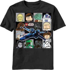 Lego Star Wars X Wing Chase Black T Shirt