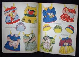 1950s DRESS PAT AND PAM U.K. Paper Doll Book, 4 Dolls w/8 pages
