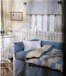 Nursery Baby Room Crib set Pattern bumper dust ruffle S9315