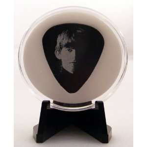 Meet The Beatles George Harrison Guitar Pick With Made In USA Display