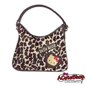Sanrio Hello Kitty Leopard Print Shoulder Bag Tote Bag Beauty