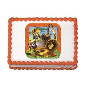 Madagascar Edible Cake Image Birthday Party NIP