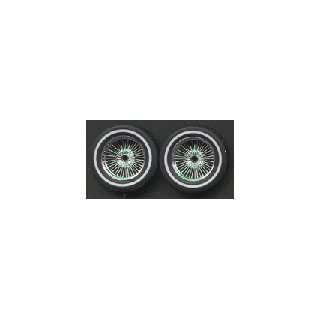 Chrome Wire Rims w/Low Profile Whitewall Tires (4) 1 18 Pegasus