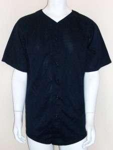 Teamwork Short Sleeve Button Baseball Plain Jersey LGE