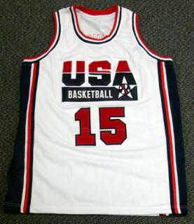 MAGIC JOHNSON AUTOGRAPHED SIGNED WHITE TEAM USA JERSEY PSA/DNA