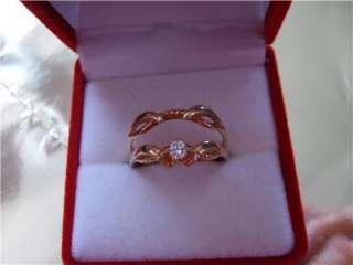 Vintage 14KY/G Diamond Black Hills Gold Wedding Ring Set New Old Stock