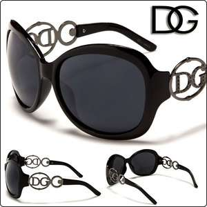 Designer Metal Sunglasses Fashion Trend Black Frame Dark Gray Lens