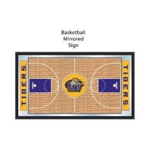 LSU Louisianna State University Tigers NCAA Basketball Mirrored Sign