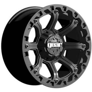 16x8 Black Wheel Gear Alloy Black Jack 6x5.5
