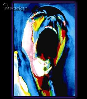 Pink Floyd The Wall Screaming Face Blacklight Reactive