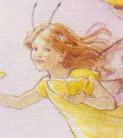 MARGARET TARRANT 4 Fairy Birthday Cards Yellow Flowers