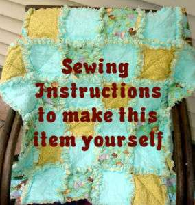 SEW EZ 2 MAKE RAG QUILT BLANKET INSTRUCTIONS PATTERN