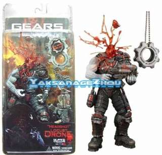 New NECA Gears of War Headshot Locust with a COG Tags 7 Action Figure