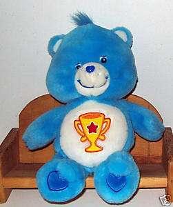 Care Bear Plush Blue Champ Bear 13 eyes not centered