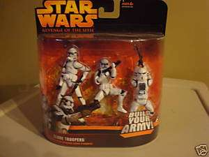 STAR WARS ROTS 3 PACK OF CLONE TROOPERS  NIB BLUE CLONE