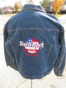 HARD ROCK HOTEL LAS VEGAS BLUE JEAN DENIM JACKET COAT MEDIUM