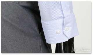 Slim Fit Light Blue Pin Stripe Mens Dress Shirts US M