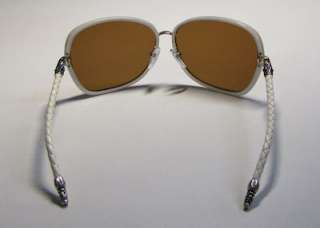 NEW CHROME HEARTS TAG TEAM WHITE/BROWN ZEISS SUNGLASSES LEATHER