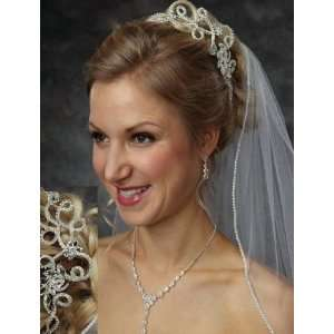 Elegant Rhinestone Bridal Hair Comb 7006 Beauty