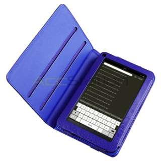 Blue 360°Swivel Rotating Leather Case Accessories For  Kindle