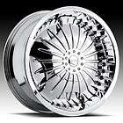 24 DUB TABOO SUPER SPINNER CHROME WHEEL SET