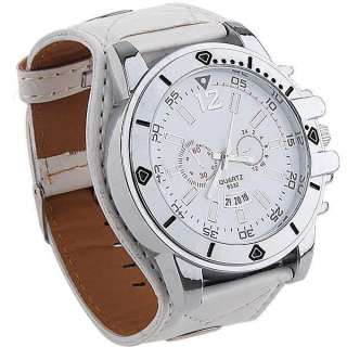 Mens Band Quartz Wrist watch Synthetic Leather M381W