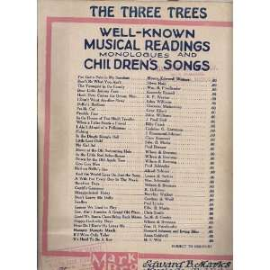 The Three Trees [Sheet Music]: Tom McNaughton: Books